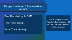 Design, Simulation & Optimization Lecture